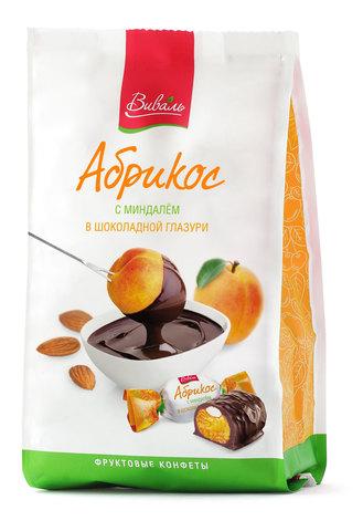 ВИВАЛЬ Абрикос с миндалем в шоколадной глазури 180г