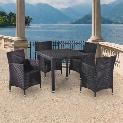 Комплект плетеной мебели T246ST/Y189D-W5 Black 4Pcs