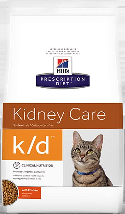 Сухой корм Ветеринарный корм для кошек Hill`s Prescription Diet k/d Kidney Care, при заболеваниях почек, с курицей кд.png