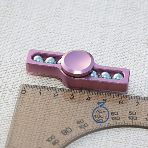 Спиннер из металла с шариками розового цвета 17001M_pink
