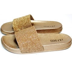 Шлепки J.B.P. Shoes NU25 Gold.