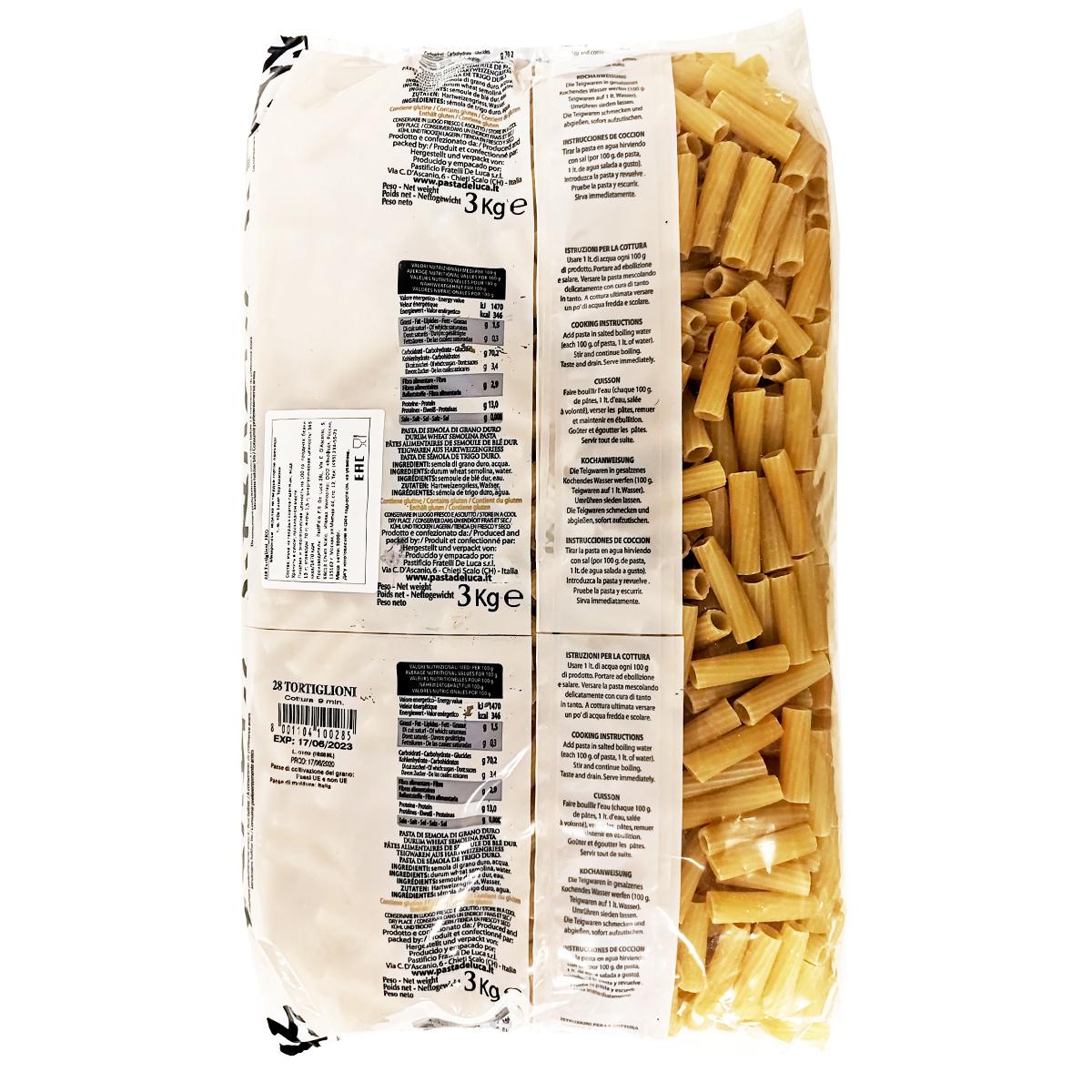 Тортиглиони №28 De Luca 3 кг