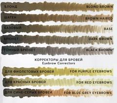 Пигмент для бровей Dark brown (Брюнет) от Алины Шаховой