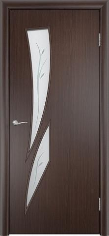Дверь Фрегат ПО-012Ф, матовое с фьюзингом, цвет венге, остекленная