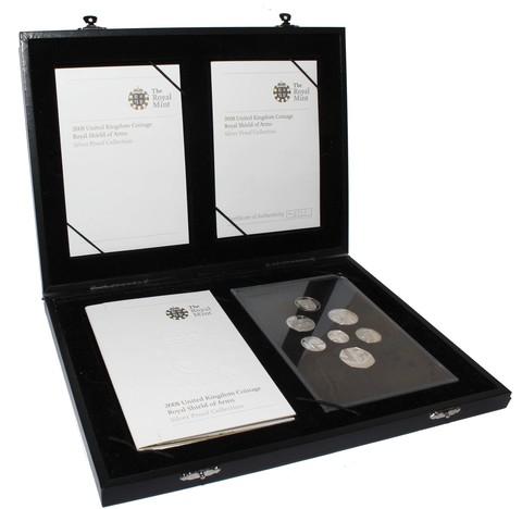 """""""Королевский герб"""" - официальный набор из 7 монет 2008 год. Великобритания в футляре"""