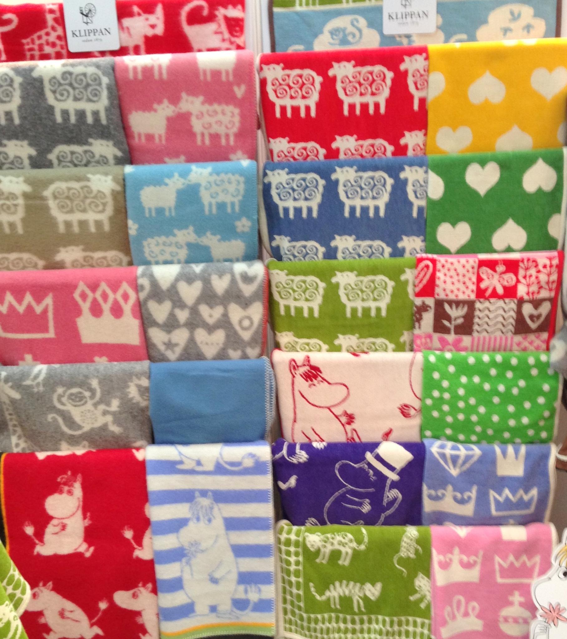 Одеяло плед детский шерсть хлопок Швеция Klippan 70-90, 90-140