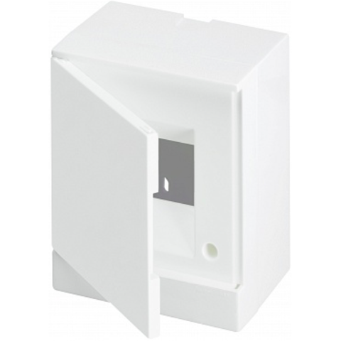 Бокс на стену Basic E 4-модуля непрозрачная дверь. Цвет Белый. (с клеммами) 160mm*180mm*102mm IP40. ABB. 1SZR004002A2101