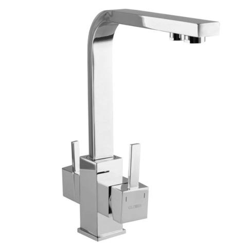 Смеситель для кухни однорычажный Globus Lux LAZER GLLR-0111 комбинированный под ОСМОС