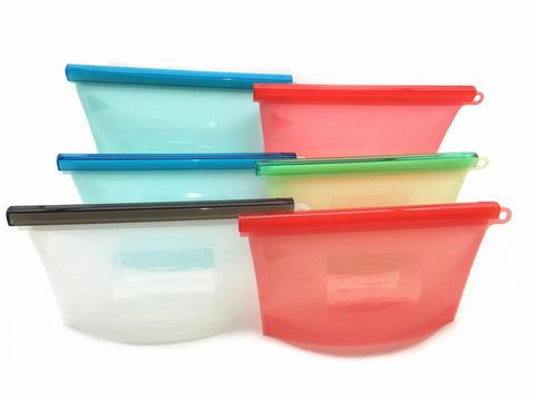 Набор из 5 силиконовых пищевых пакетов