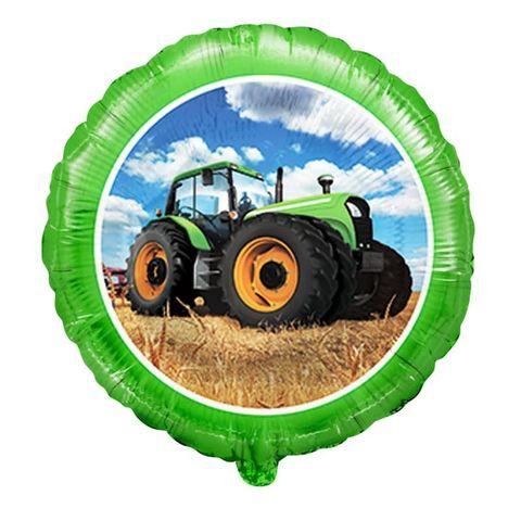 Фольгированный шар круг , Трактор, 46 см