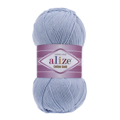 Пряжа Alize Cotton Gold светло-голубой 40
