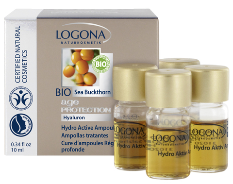 LOGONA Age Protection Ампульный гидроактивный комплекс против морщин с Био-Облепихой