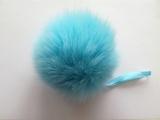 Помпон песец натуральный голубой 14-16 см