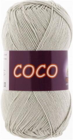 Пряжа Coco (Vita cotton) 3887 Светло-серый