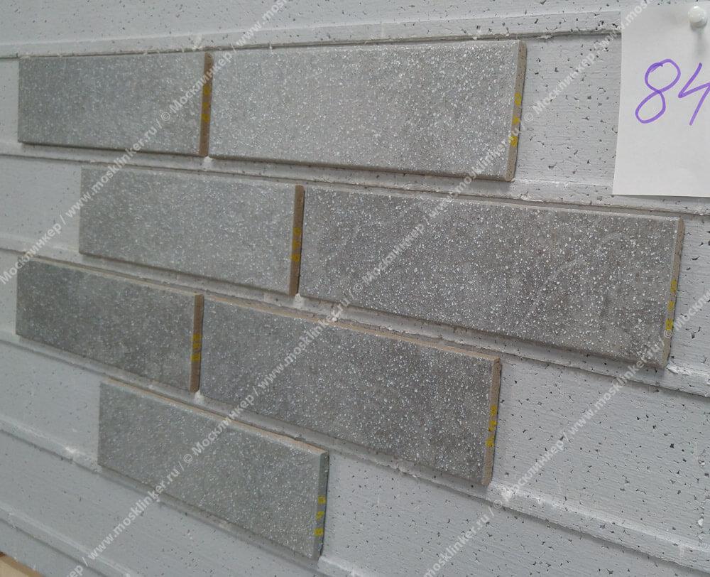 Stroeher - 840 grigio, Keravette shine, glasiert, глазурованная, гладкая, 240x71x8 - Клинкерная плитка для фасада и внутренней отделки
