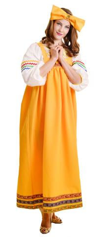 Костюм Барыня в жёлтом сарафане взрослый