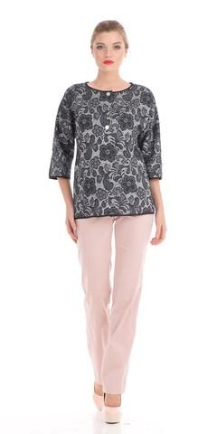 Фото светло-розовые хлопковые брюки свободного кроя - Брюки А403-545 (1)