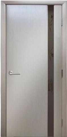Дверь Модерн - 3 (стекло бабочки) (беленый дуб, остекленная шпонированная), фабрика LiGa