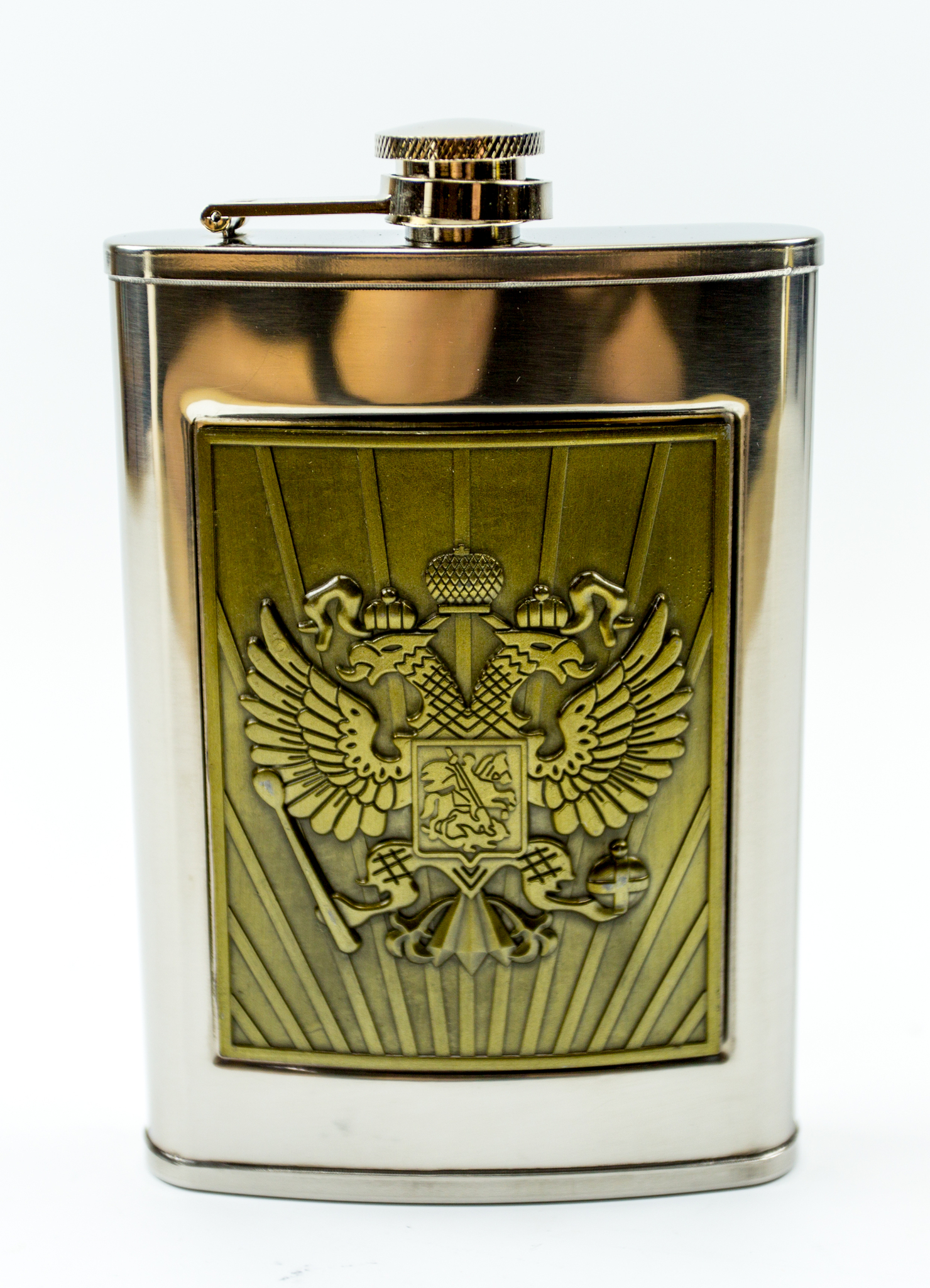 Фляжка Герб Российской Империи, 270 мл фляжка сухой закон 270 мл