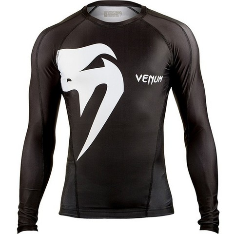 Рашгард Venum Giant rashguard - Long sleeves - Black
