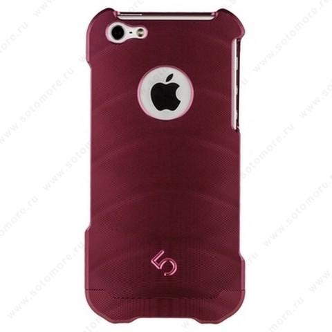 Накладка 4th металлическая M2 для iPhone SE/ 5s/ 5C/ 5 розовая