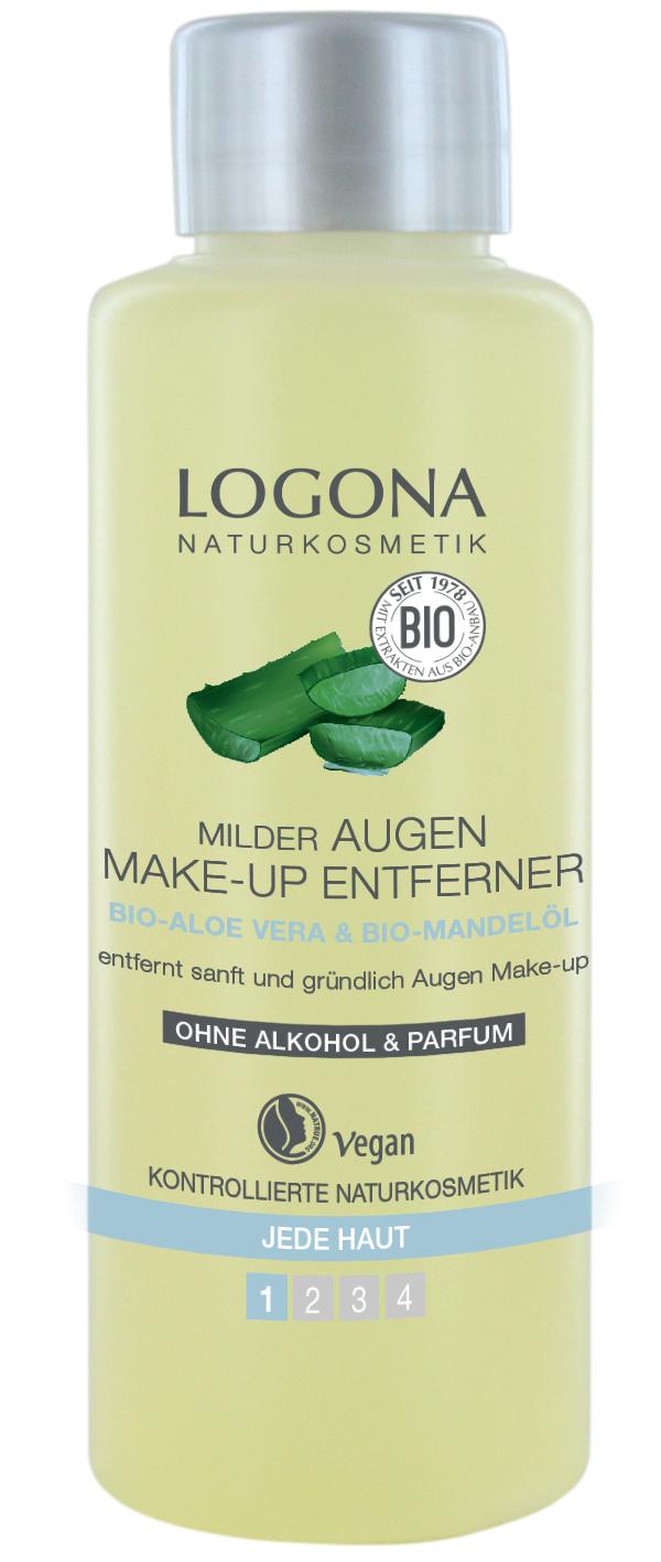 LOGONA Средство для деликатного снятия макияжа с глаз c Био-Алоэ и Био-Миндалем