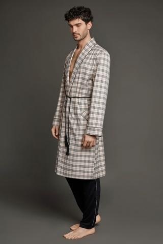 Мужской хлопковый халат 61332  Laete