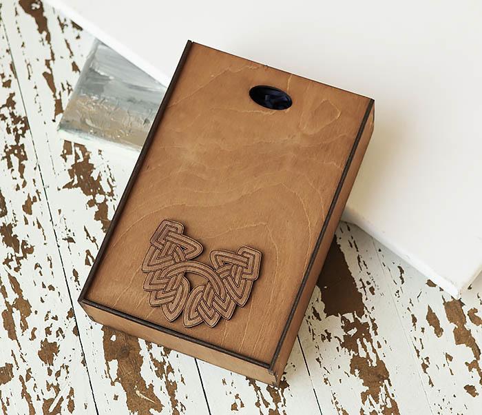 BOX230-2 Фирменная коробка для подарков коричневого цвета (18*26*7,5 см) фото 02