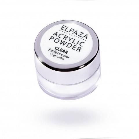 Акриловая пудра ELPAZAA  15g, прозрачная