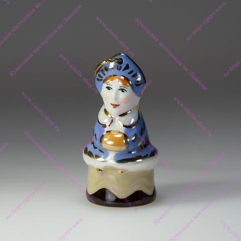 Снегурочка на конфетке — фарфоровая елочная игрушка