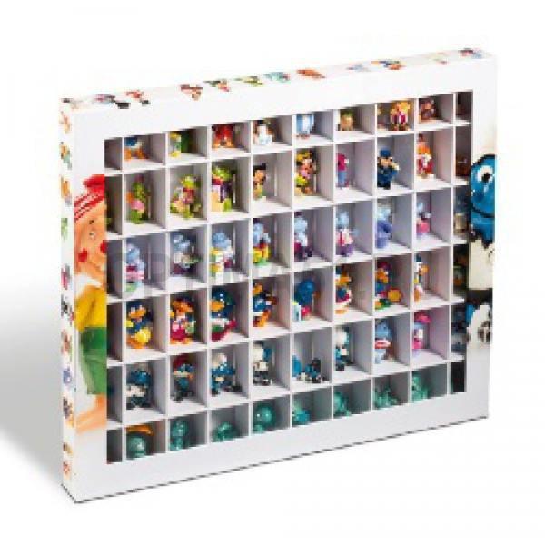 Коллекционный бокс витрина на 60 ячеек (для киндер сюрпризов), тематическое оформление