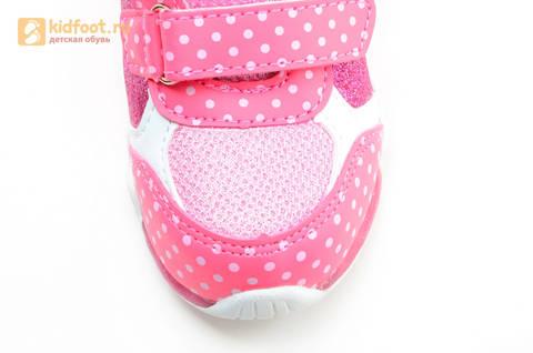 Светящиеся кроссовки для девочек Хелло Китти (Hello Kitty) на липучках, цвет розовый, мигает картинка сбоку. Изображение 11 из 15.