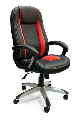 Кресло компьютерное Brindisi Tetchair экокожа черный/красный
