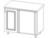 Стол кухонный под мойку  ВЕРОНА  угловой 1000