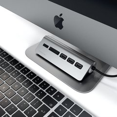 USB-концентратор  Satechi USB-C USB Hub и Micro/SD Card Reader, серый космос