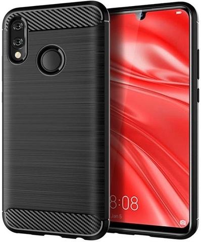 Чехол для Huawei Honor 10 lite (P Smart 2019 и Nova Lite3) цвет Black (черный), серия Carbon, Caseport