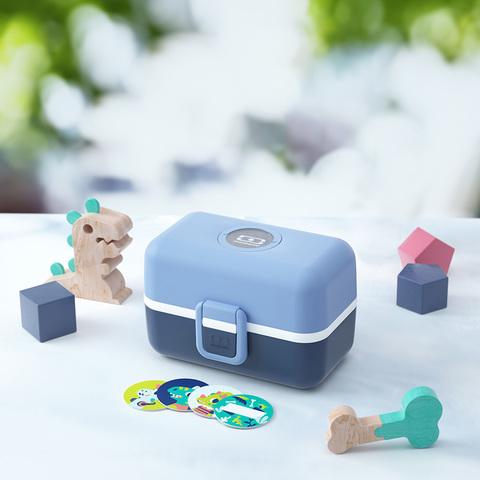 Набор для детей bleu infinity ланч бокс, бутылочка и приборы