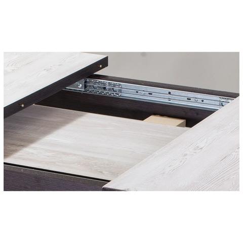 Стол Джаз ПР-1 ДБ/ВН 93 ЧР / Дуб беленый/Венге / ножки черный металл / 120(157)х80 см