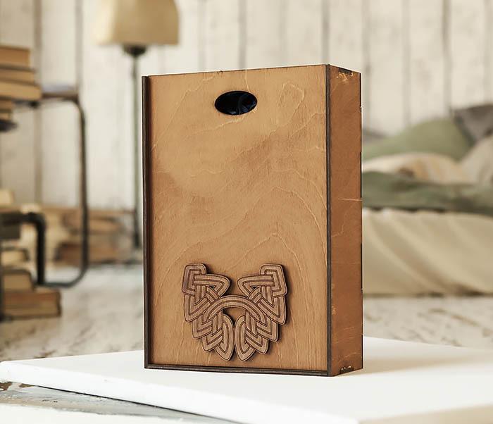BOX230-2 Фирменная коробка для подарков коричневого цвета (18*26*7,5 см) фото 04