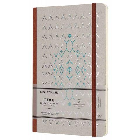 Блокнот Moleskine Limited Edition TIME NOTEBOOKS LCTM33P Large 130х210мм обложка картон 140стр. линейка коричневый