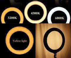 Лампа для салонов красоты студий макияжа видеосьемки Ring Fill Light 36 см на штативе