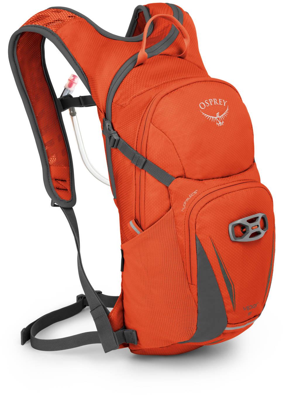 Велорюкзаки Велорюкзак с питьевой системой Osprey Viper 9 Viper_9_Side_Blaze_Orange_web.jpg
