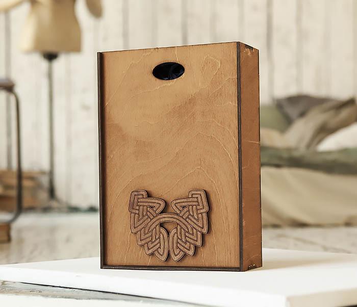 BOX230-2 Фирменная коробка для подарков коричневого цвета (18*26*7,5 см) фото 05