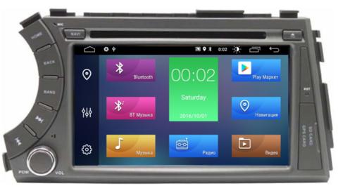 Штатная магнитола SsangYong Kyron 2005-2015 Android 8.1 4/64GB модель 7A606PX5