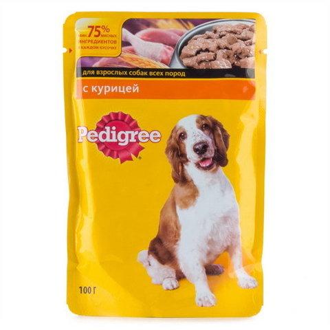 """Корм для собак Pedigree """"С курицей для взрослых собак"""" 100г"""