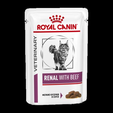Royal Canin Renal S/O Консервы для кошек с хронической почечной недостаточностью с говядиной