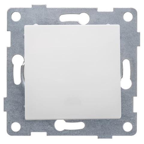 Выключатель одноклавишный, 10 А 220/250 В~. Цвет Белый. Ugra GUSI Electric. С11В1-001