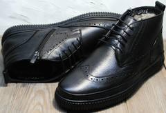 Теплые зимние ботинки мужские Rifellini Rovigo C8208 Black