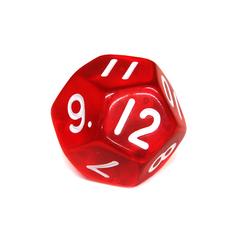 Куб D12 прозрачный: Красный
