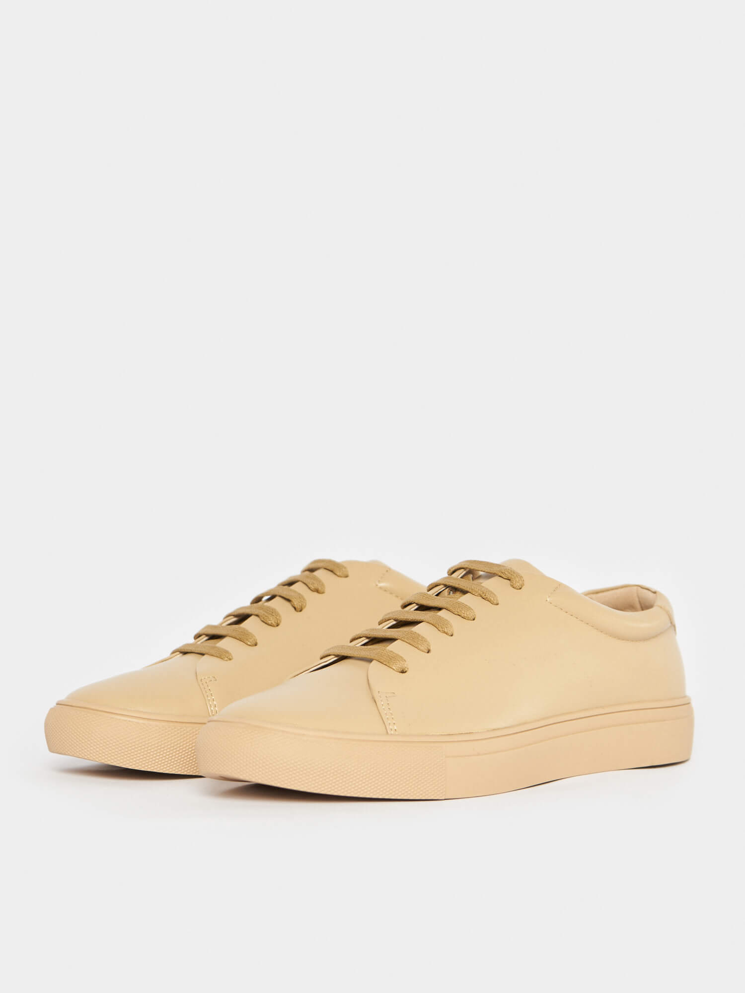 Кеды кожаные на шнуровке